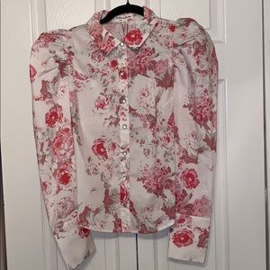 For love and lemons floral puff sleeve blouse